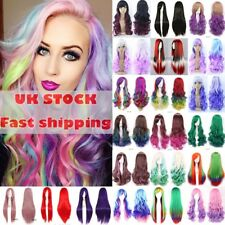Anime Cosplay Wig 23''/58CM Wig Party Halloween Full Wig Long Layered multicolor