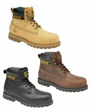 CAT Caterpillar Holton Safety Steel Toe Cap Mens Leather Work Boots UK6-15