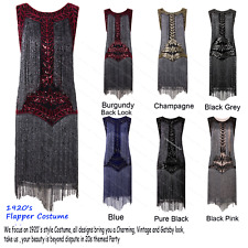 Women's Flapper Dresses Vintage Full Fringed 1920s Gatsby Party Cocktail Dress