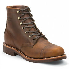 CHIPPEWA BOOTS Smith Tan 6 Boots Real Leather Made in USA Size 40-45 NEW