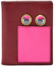 BRAND NEW FOSSIL WOMEN'S RFID PASSPORT HOLDER AND WALLET WINE - PINK MULTI