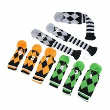 Protable 3Pcs Set Hand Knitted Golf Club Headcover for Driver 3 & 5 Fairway Wood