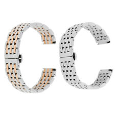 Stainless Steel Watch Band Solid Butterfly Link Bracelet Strap 20mm 22mm