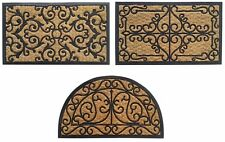 Panama 45x75CM Natural Coir & Rubber Indoor Outdoor Non-Slip Entrance Door Mat