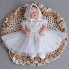 Newborn Baby Christening Dress Girl Lace Adorable Princess Baptism Dress Gown