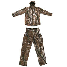 Windproof Camo Hooded Jacket Pants, Trousers Hunting Camouflage Suit Thermal