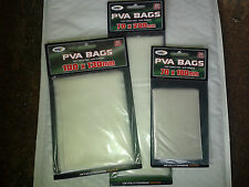 PVA BAGS 60, 3 Packs of 20 in 3 Sizes Fast melt Carp Fishing Catfish No residue