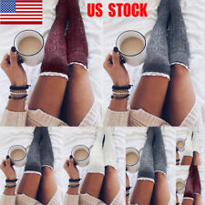 Womens Lace Over Knee Long Socks Hold Up Party Thigh-High Stockings Leggings USA