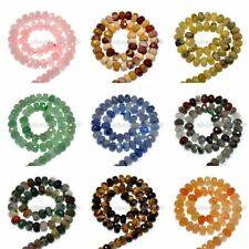 """Faceted Natural Gemstone Rondelle Spacer Loose Beads Strand 4x6mm & 5x8mm 15.5"""""""