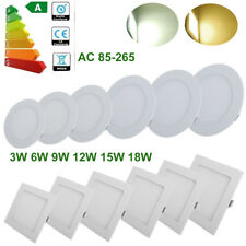 3/6/9/12/24W Dimmable Recessed LED Light Ceiling Panel Downlights Christmas Deal