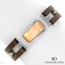 CHIMENTO Titanium Ring in 18K Gold Plated Stainless Steel for Men Made in Italy