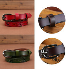 Sweetness Women Thin Skinny Waistband Leather Belts Adjustable Belt Candy Color