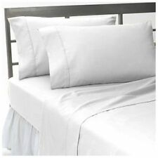 1000TC EGYPTIAN COTTON SHEET SET/DUVET/FITTED/FLAT/PILLOW CASE WHITE SOLID