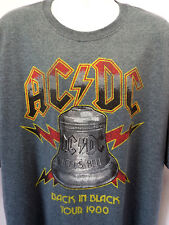 AC-DC BACK IN BLACK 1980 TOUR THROWBACK T-SHIRT SIZES- 3XL-4XL- ACDC- NEW!