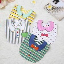 Kids Toddler Waterproof Lunch Cartoon Bibs Infant Baby Saliva Towel Bib E8L2