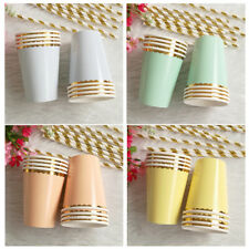 Wedding Tableware 8pcs/Set Supplies Birthday Paper Cups Party Disposable Hot