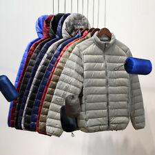 US Men's Packable Down Jacket Ultralight Stand Collar Coat Winter Hoodie Puffer