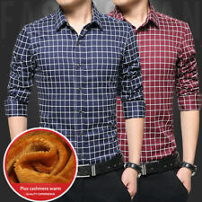 Long sleeves Solid color 1Pcs Casual shirt plaid shirt Men's Shirts