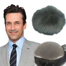 Men's toupee hair replacement human hair system hairpiece Swiss Lace base 10X8