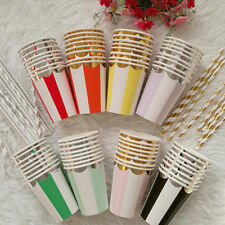 Party Birthday Tableware Wedding Disposable Colorful Supplies 8pcs Paper Cups