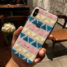 Ultra Thin Triangle Cover Soft TPU Clear Phone Case For iPhone X 6 6s 7 8 Plus