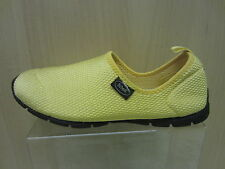 Ladies Dr Scholls Pull On Shoe, Yellow Textile, Exairsion