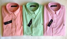 $98 NWT Mens Polo Ralph Lauren Knit Mesh Button Down Oxford Shirt Pink M L XL
