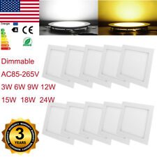 3W 6W 9W 12W LED Recessed Dimmable Ceiling Panel Down Light Fixtures Dining Room