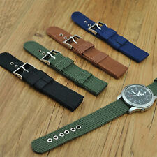Men Ornate Infantry Military Wrist Army Nylon Canvas Strap Band For Watch UP