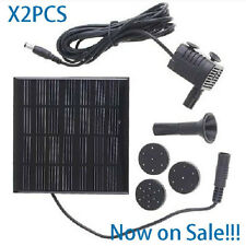 Sales!!!2X 4X Solar Powered Fountain Submersible Water Pump Garden Pond Pool Kit