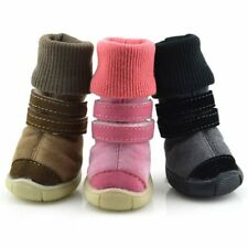 US Pet Dog Cat Winter Warm Shoes Anti-slip Snow Boots Puppy Booties Pet Sneakers