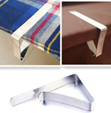4PC, 12PC Tablecloth Adjustable Stainless Steel Table Cloth / Cover Clip Clamp
