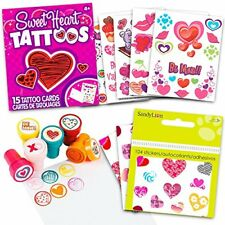 Valentine's Day,  6 Valentine Stamps, Over 100 Heart Stickers Gifts for Kids Set