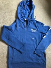 New Hollister by Abercrombie Men Half Zip Hoodie BLUE, SMALL