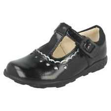 Infant Toddler Girls Clarks First Patent Leather T-Bar Shoes - Ella Alice