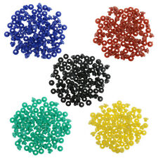 100x 5 Colors Rubber Grommets Nipples For Tattoo Machine Needles Supplies