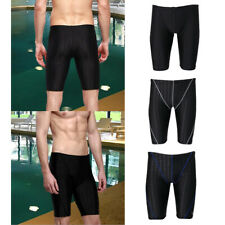 Men's Boys Swimming Swim Trunks Boxer Shorts Pants Black Size L to 5XL