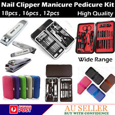 MANICURE PEDICURE SET SINGLE STAINLESS NAIL CLIPPER KIT CUTICLE GROOMING BEAUTY