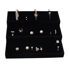 3 Layers Cufflinks Ring Display Jewellery Case Tray Earring Storage Holder