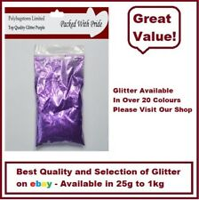 PURPLE GLITTER - BULK PACKS - NAIL ART - WINE GLASS - ARTS & CRAFTS 100g - 1Kg