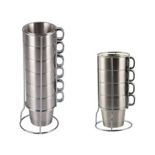 Double-Wall Stainless Steel Mug Drinking Cup Beer Coffee Drinkware Insulated