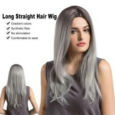"Pretty Fashion 24"" Long Straight Hair Full Wigs Heat Resistant Cosplay Wig U9Y8"
