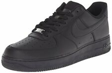 Nike Mens Air Force 1 Low Black/Black Leather Casual Shoes 6 M US