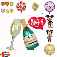"40"" Champagne Glass and Bottle Foil Balloon Large Helium Wedding Birthday Party"