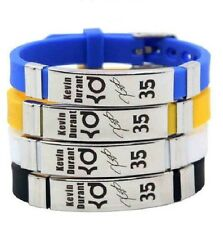 NBA  Basketball Bracelet Silicone Stainless Steel adjustable Kevin Durant