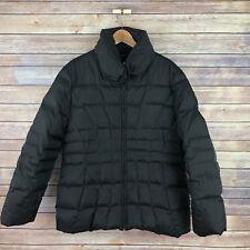 CALVIN KLEIN Women's Down Fitted Zip Front Puffer Jacket XL Extra Large Black