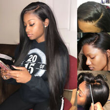 Glueless Brazilian 100% Human Hair Lace Front Wig Full Lace Wigs Straight Body