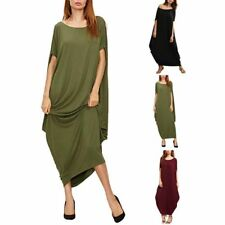 Bohemia Womens Loose Maxi Dress Leisure Batwing Sleeve Long Dress Party Cocktail