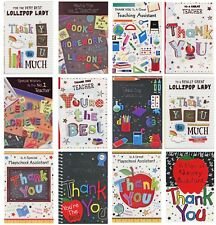 THANK YOU TEACHER, TEACHING ASSISTANT, LOLLY POP LADY  THANK YOU CARDS 1ST P&P