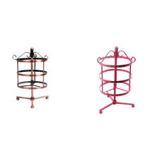 Cage Shape Rotating Jewelry Hanging Display Organizer Rack Stand Holder